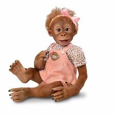 "Ashton Drake baby Monkey ""MOMOKO"" - Poseable Doll - Free Next Day UK Delivery"