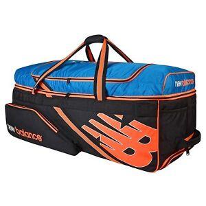 New Balance DC 880 Large Wheelie Cricket Kit Bag Blue/Orange+ Free Shipping