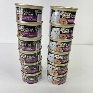 Fancy Feast Savory Centers Beef Pate 12 Cans Total