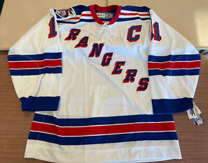 Mark Messier New York Rangers Authentic White Jersey BNWT Sz 52 75th anniv Patch