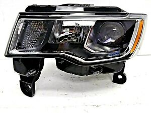 2017-2019 JEEP GRAND CHEROKEE LH DRIVER'S SD HALOGEN HEAD LIGHT OEM# 68289235AD