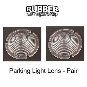 1954 Ford Passenger Car Parking Light Lenses - Pair