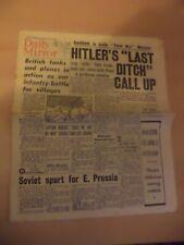 daily mirror OLD VINTAGE ORIG NEWSPAPER 1940S ww2 26 july 1944 german call up