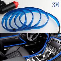 Universal Car 3M Interior LED Decor Wire Strip Atmosphere Neon Cold Light Blue
