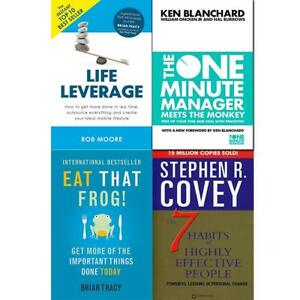 Eat That Frog Get More Of The Important Life Leverage 4 Books Collection Set