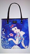 "Disney's LOUNGEFLY SNOW WHITE Designer Tote Bag ~ Faux Leather ~ 15""x17"", NWT"