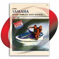 1993-1996 Yamaha WRB650 Repair Manual Clymer W806 Service Shop Garage