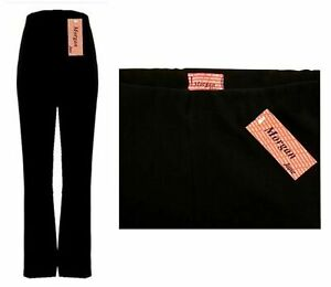 LADIES ONE FINELY RIBBED BOOTLEG STRETCH TROUSERS SIZES 10-26 mpbj