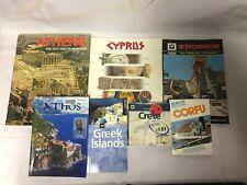7x Greece Travel Books Crete Greek Islands Knossos Athens Corfu Cyprus Athos