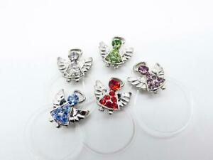 ADORABLE Sparkle Crystals Petite Silver GUARDIAN ANGEL Invisible Toe Ring NEW