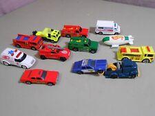12 HOT WHEELS 1/64 Emergency Vehicles 1970's -1990's Fire Trucks Blimp Recker Sh