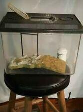 Acrylic Reptile Terrarium Turtle Gecko Lizard Enclosure w/Turtle Dock