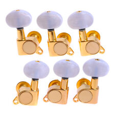Tuning Peg Good Quality Machine Heads For Guitar 3l3r GOLD WHITE PEARLOID button