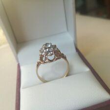Delightful 9 Carat Gold Spinel Cluster Ring Size K 1/2