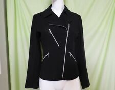 French Made Caroll Moto Jacket with Beautiful Styling and Details M