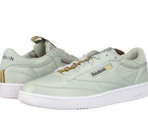 Reebok Men's Club C 85 Sneaker | Spray/Wht/Lush/ Earth/Gold/Mineral | 11.5 M US