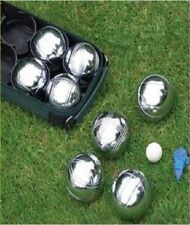 8pc Steel French Boules Set Petanque Balls Garden Game Free Carry Case