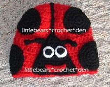 Custom Boutique Crocheted Ladybug Hat Beanie Costume animal
