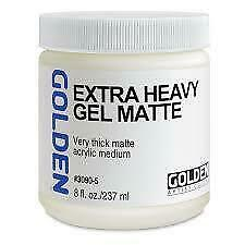 NEW Golden Extra Heavy Gel Matte 8oz 236mls