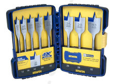 IRWIN Speedbor 8pc Metric Blue-groove Wood Spade Bit Set With Tuff Case 4xfaster