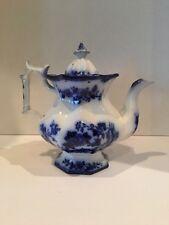 Flow Blue Indian Pattern Inverted Diamond Teapot