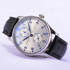 43mm Parnis Seagull Automatic Power Reserve Men Casual Wrist Watch Small Second