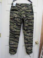 Vietnam Asian Tiger Stripe Camo BDU Pants Trousers 100% Cotton Ripstop Propper