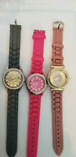 Lot of Three Women's Rubber Strap Watches.  K8