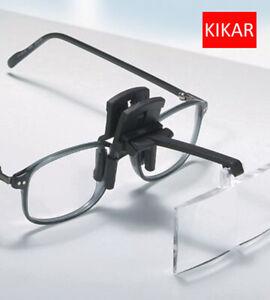 KIKAR Clip on Flip up Glasses Hat Folding Magnifier Reading Magnifying Hand Free