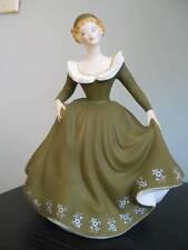 ROYAL DOULTON GERALDINE HN 2348 Bone China Collectible Lady Figurine Green