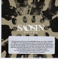 (CE610) Saosin, Voices - 2007 DJ CD