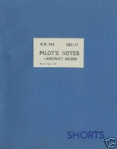 Shorts SC.1 Short ER.143 Historic Manual research experimental Jet VTOL 1960 70s