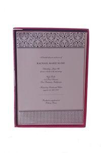 "American Crafts Wedding Invitations Black White Modern Hearts 5"" X 7"" 25 NEW"