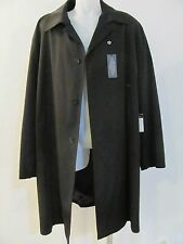 TURNBURY Raincoat Trench RainCoat Trenchcoat Removable WOOL Liner 52R BLACK $325