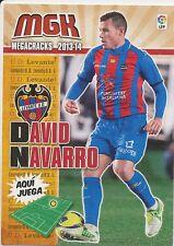 N°187 DAVID NAVARRO PEDROS # ESPANA LEVANTE.UD CARD PANINI MGK LIGA 2014