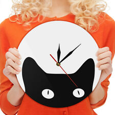 Peeping Cat Wall Clock Animals Time Clock Watch Room Decor Gift For Cat Lover