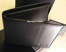 BRAND NEW DESIGNER HUGO BOSS WALLET 'CAENESTIR' 50222660 BIFOLD BLACK GIFT BOXED
