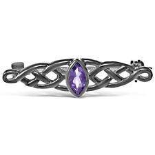 Broches y pines de joyería con diamantes o gemas de plata de ley