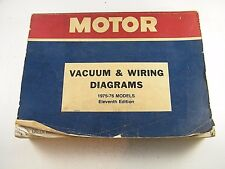 MOTOR ~ VACUUM & WIRING DIAGRAMS MANUAL FOR 1975-76 MODELS ~ 11TH EDITION ~ USED