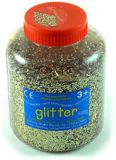 Gold Art and Craft Glitter  400g Tub  AP/691/EDGD