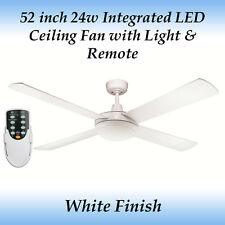 Rotor 52 inch LED Ceiling Fan with Light in White and Remote