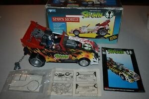1994 TODD TOYS SPAWN MOBILE With Box, Figure, Comic, and instructions, Complete