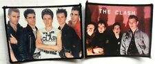 THE CLASH 'GROUP' x 2  photo  patches   JOE STRUMMER  MICK JONES