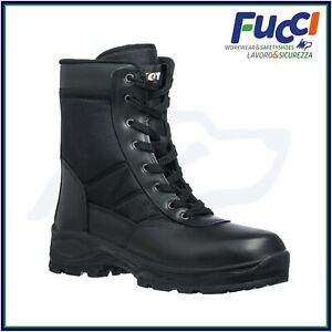 Anfibi Stivali Magnum da lavoro con Zip Uomo Donna Leather Boot Militari Softair