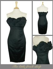 TED BAKER EXQUISITE BLACK STRAPLESS PENCIL WIGGLE COCKTAIL DRESS 8 36 Us 4