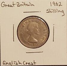1962 Great Britain Shilling - Queen Elizabeth II - English Crest