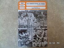 CARTE FICHE CINEMA 1952 LES CONDUCTEURS DU DIABLE Jeff Chandler Alex Nicol