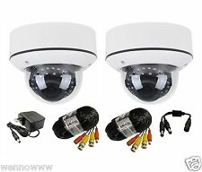 2x Vari-Focal 2.8-12 mm Outdoor/Indoor Security Camera for Home Cctv Dvr System