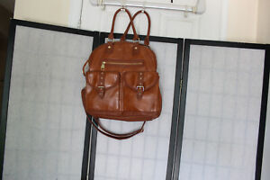 STEVE MADDEN VERY NICE BROWN EXTRA LARGE HANDBAG WITH 2 STRAPS EUC