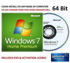 Windows 7 Home Prem SP1 64bit su Microsoft Ologramma DVD-per un qualsiasi computer + CHIAVE